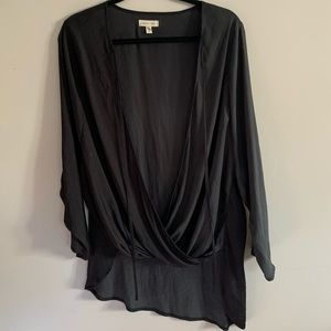 Silence + Noise Womens Medium Surplice Blouse